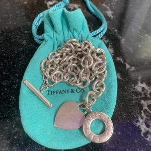 TIFFANY & CO. SILVER HEART TAG TOGGLE NECKLACE